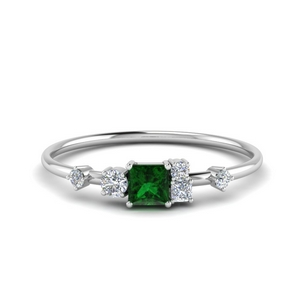 Fancy Cluster Emerald Ring