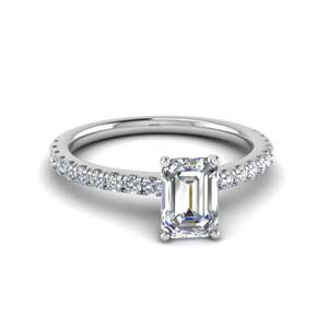 Emerald Cut Lab Created Diamond Rings