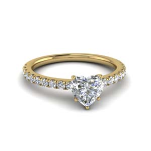 Beautiful Heart Diamond Ring