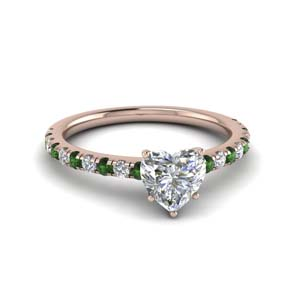 Small Emerald Engagement Ring