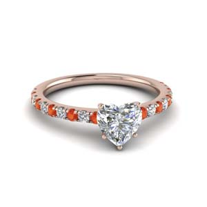 Orange Topaz 1 Carat Ring