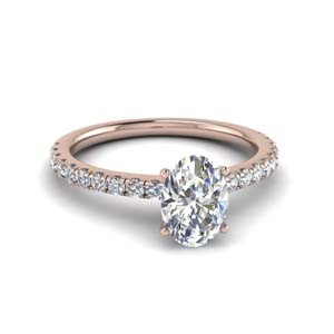 Rose Gold Moissanite Petite Ring