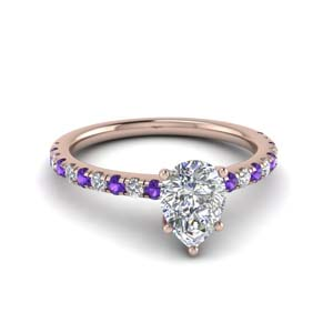 14K Rose Gold Petite Engagement Ring