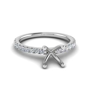 U Prong Ring Setting