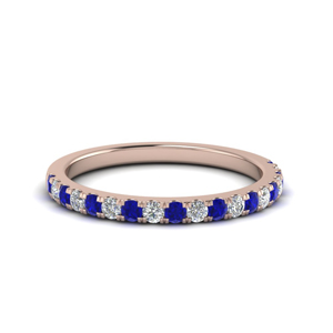 Sapphire Rose Gold Delicate Band