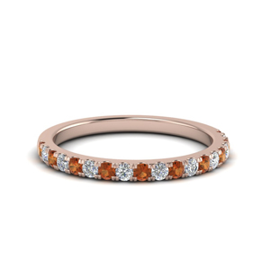 French Pave Wedding Band