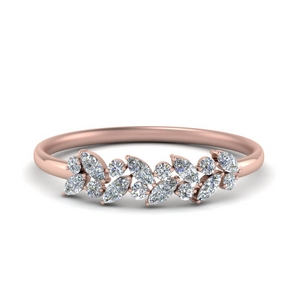 Marquise & Round Diamond Band