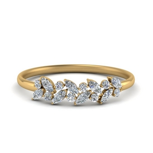 marquise diamond promise ring band in FD8372 NL YG