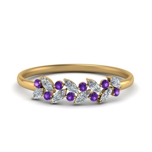 Purple Topaz Anniversary Band