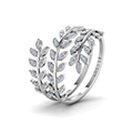 leaf design spiral eternity band in FD8385RANGLE2 NL WG