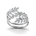 leaf design spiral eternity band in FD8385RANGLE5 NL WG