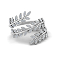 leaf design spiral eternity band in  FD8385RNL WG