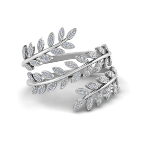 Silver Spiral Eternity Band