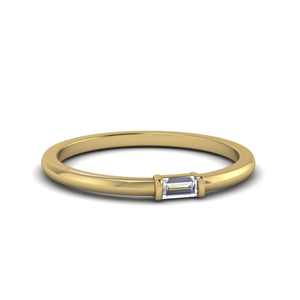 Single Baguette Promise Ring