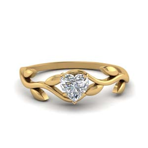 Heart Cut Diamond Solitaire Rings