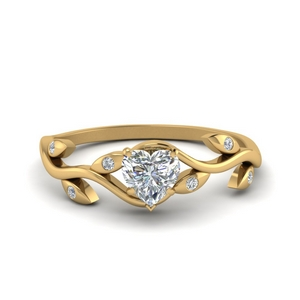 Branch Leaf Diamond Ring