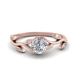 Leaf Branch Diamond Ring