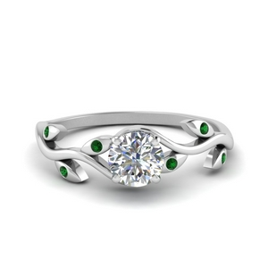 Branch Leaf Style Engagement Ring