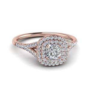Radiant Double Halo Diamond Ring