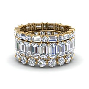 3 piece stack eternity band in 14K yellow gold FD8474B NL YG