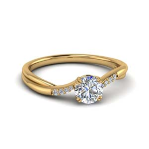 Half Carat Diamond Gold Ring