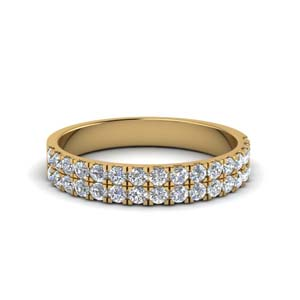 2 Row U Prong Diamond Band
