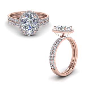 Oval Shaped Diamond Wedding Sets