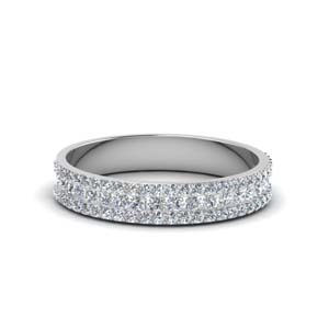 3 row round diamond band ( 0.60 Ct.) in FD8491B NL WG
