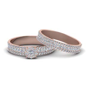 Diamond Halo Bridal Set (1.40 Ctw.)