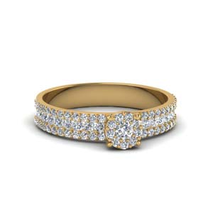 18K Yellow Gold 0.80 Ct. Diamond Ring