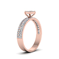 0.80 ct. diamond round halo ring in rose gold FD8491RORANGLE2 NL RG