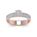 0.80 ct. diamond round halo ring in rose gold FD8491RORANGLE5 NL RG