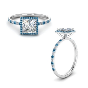 Prong Stud Halo Moissanite Ring
