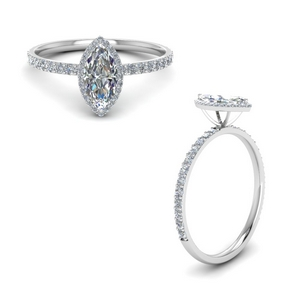 marquise cut halo diamond engagement ring in FD8497MQRANGLE1 NL WG