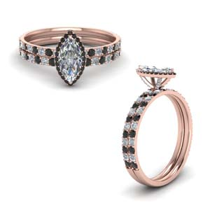 Classic Black Diamond Wedding Set