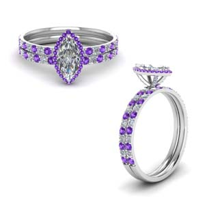 Prong Petite Bridal Ring Set