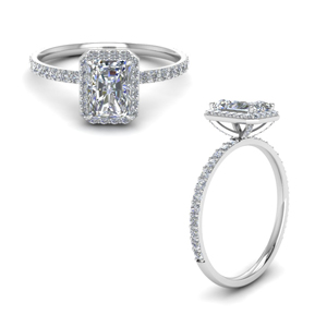 Radiant Cut Diamond Petite Rings