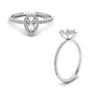 Semi Mount Halo Diamond Engagement Ring
