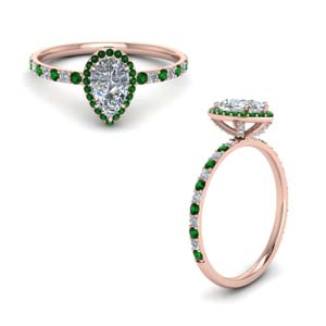 Emerald High Setting Engagement ring