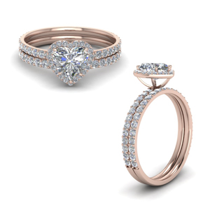 Heart Diamond Wedding Sets