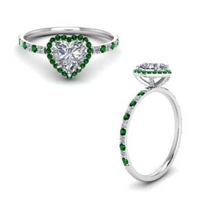 Halo Emerald Engagement Ring