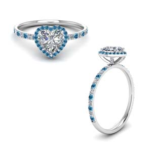 Platinum Topaz Halo Ring
