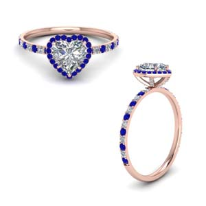 Sapphire Halo With Petite Ring