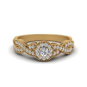 Twisted Wedding Ring 14K Yellow Gold