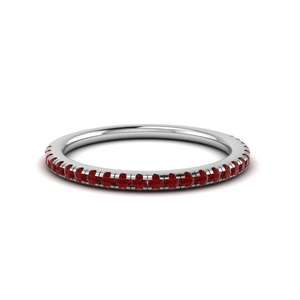 Delicate Ruby Anniversary Band