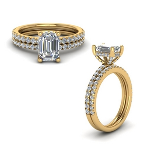 Petite Diamond Wedding Set
