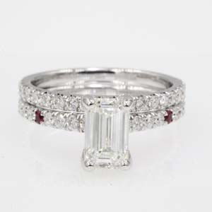Diamond Petite Wedding Ring Set