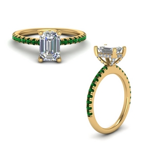 Diamond Emerald Cut Petite Ring