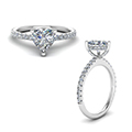 Diamond Prong Heart Shaped Petite Ring