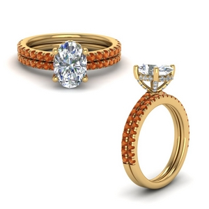 Oval Shape Petite Ring Set